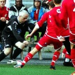 Pete Boyle dribbling in Norway