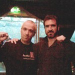 Pete Boyle with Cantona