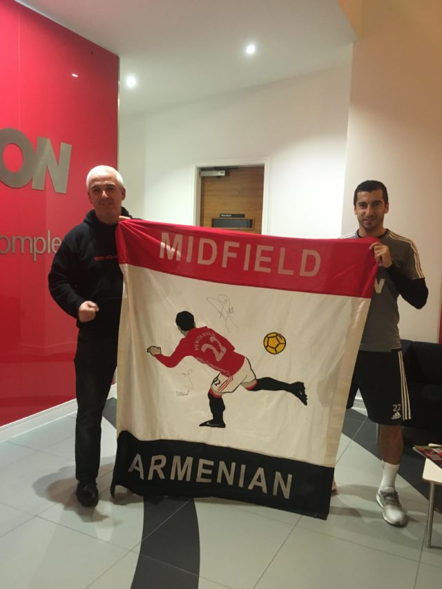 Henrikh Likes His Flag